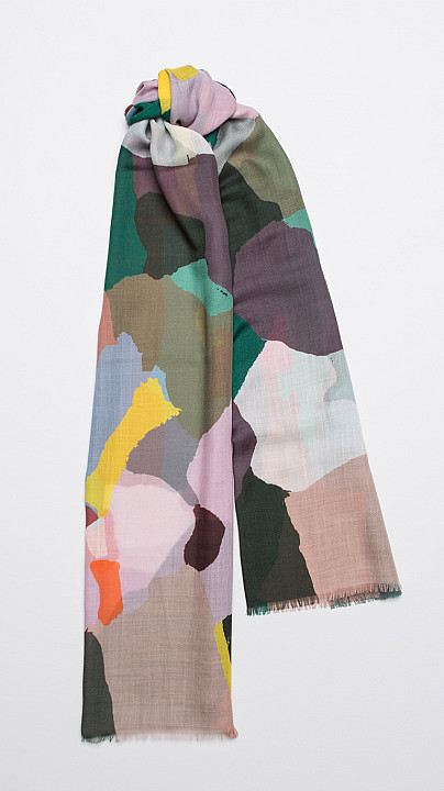 Begg & Co Wispy Scarf Painted Camo