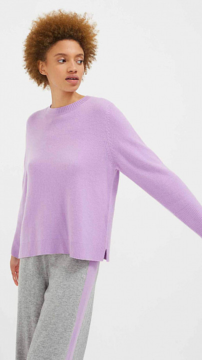 Chinti and Parker The Boxy Sweater Lilac