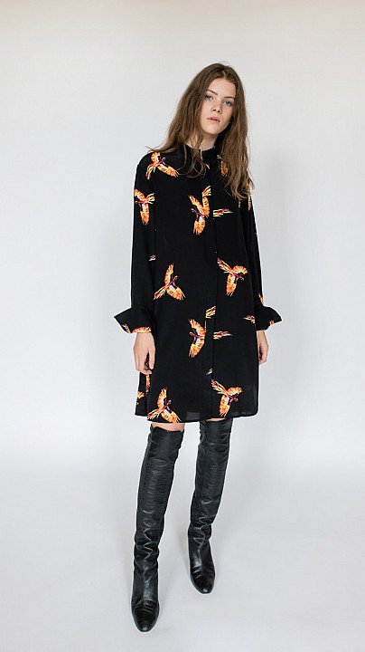 DVF Shirt Dress Aurora Black
