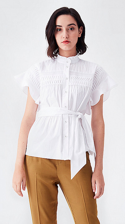 DVF Zoe Pleated Blouse