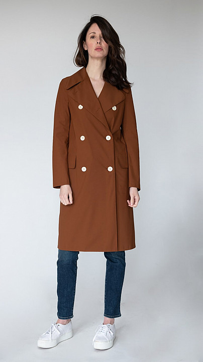 Harris Wharf Military Coat Copper