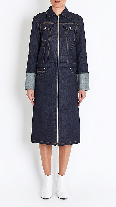 Helmut Lang Denim Trench Dress