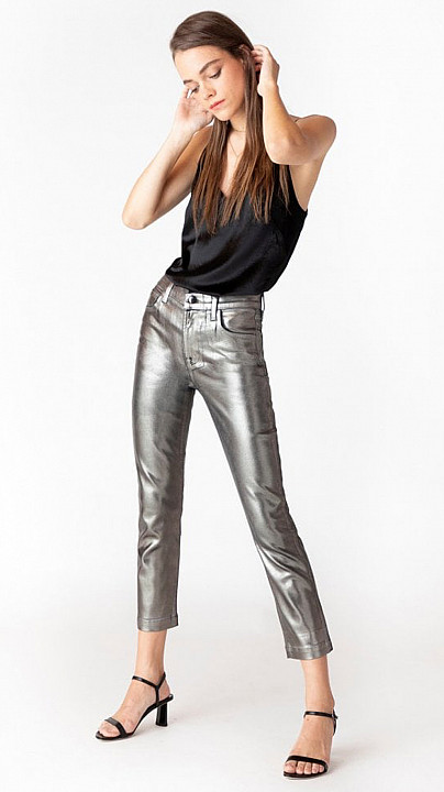 J Brand Ruby High Rise Galactic Silver
