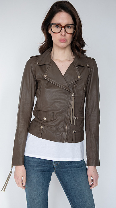 MDK Seattle Thin Leather Jacket Bungee Cord