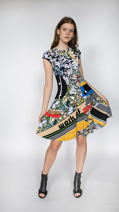 Mary Katrantzou Pinto Jersey Dress Multi Bauhaus