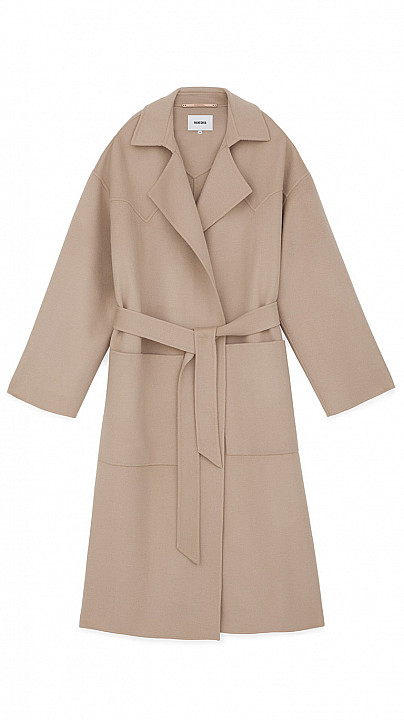 Nanushka Alamo Double Wool Coat Stone