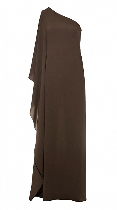 Osman Cape Sleeve Gown Khaki