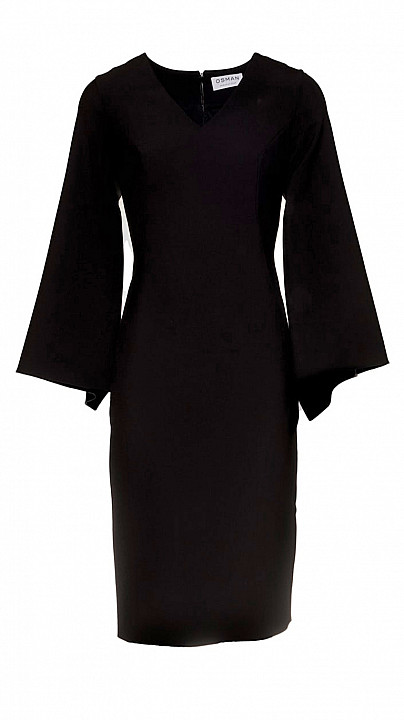 Osman Kimono Sleeve Cocktail Dress in black