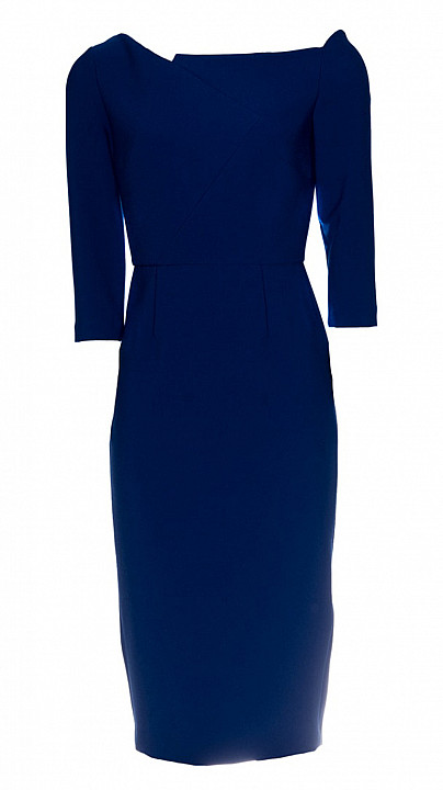 Roland Mouret Witham Dress Cobalt