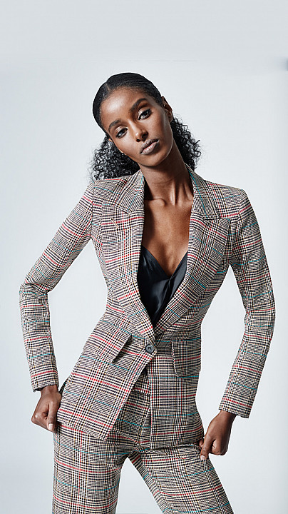 Smythe Lounge Blazer Multi Glen Check