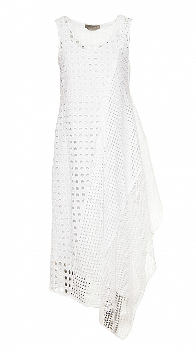 Sportmax Abatina Dress with Petticoat in White