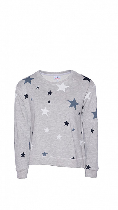 Sundry Star Sweatshirt Heather Grey