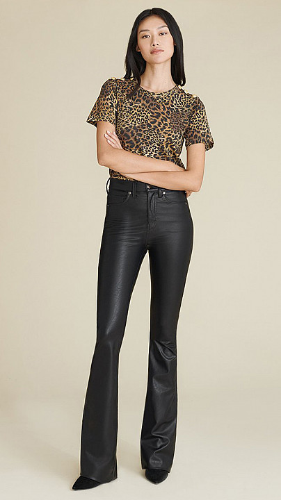 Veronica Beard Beverly Vegan Leather Jeans