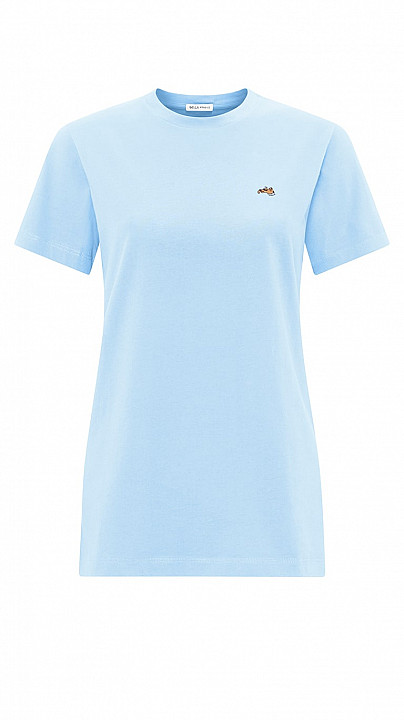 Bella Freud Dog T-Shirt Pale Blue