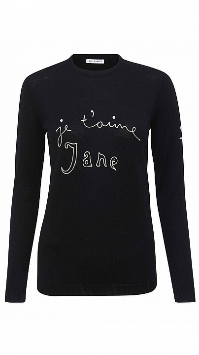 Bella Freud Je'Taime Jane Jumper Black