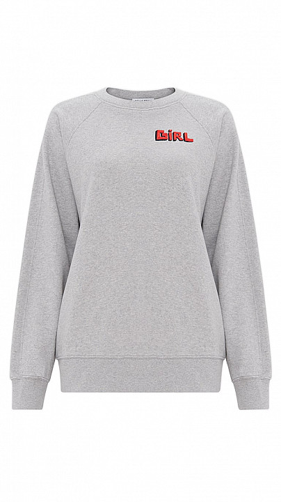 Bella Freud Girl Sweatshirt Grey Marl