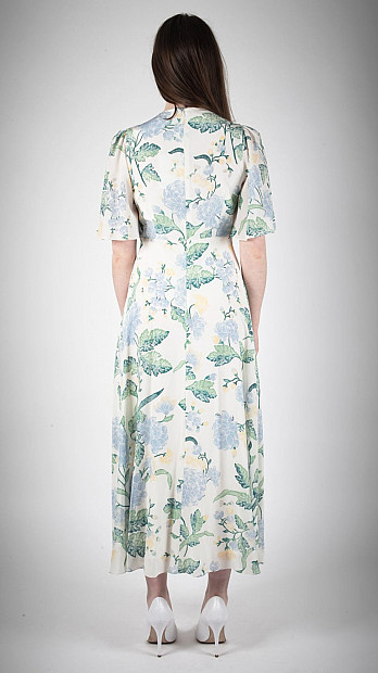 Beulah Gardenia Dallia Floral Dress