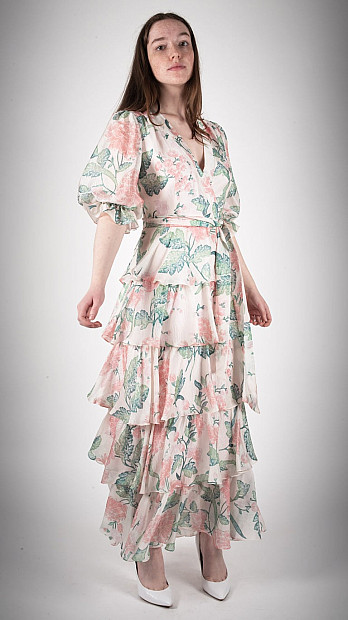 Beulah Liana Dallia Dress Blush