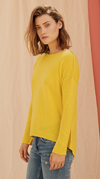 Charli Amber Sweater Canary Yellow