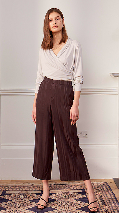Charli Jane Culottes Stripe Coal