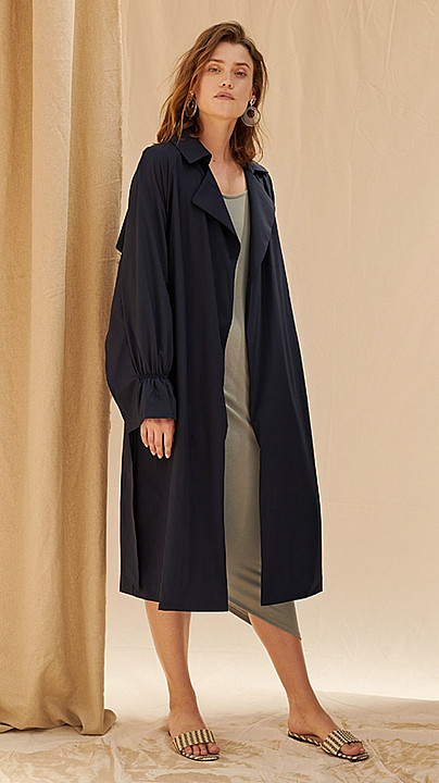 Charli Makenna Coat Navy