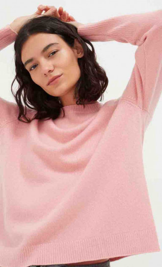 Chinti and Parker The Boxy Sweater Rose