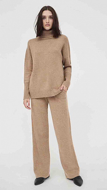 Chinti and Parker Roll Neck Sweater Camel