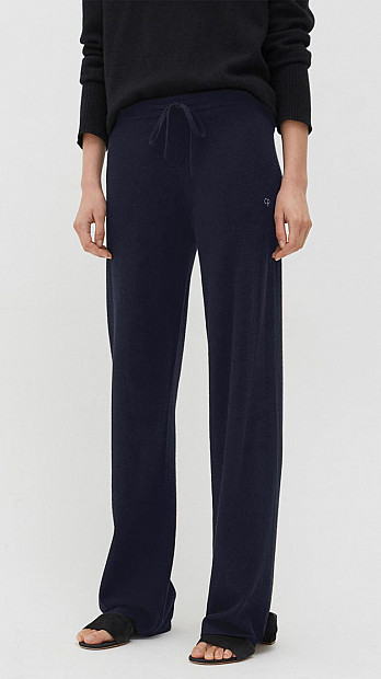 Chinti and Parker Wide Leg Trouser Navy