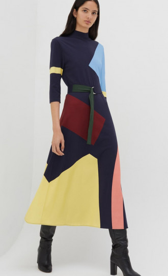 Chinti and Parker Abstract Dress Multi