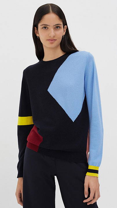 Chinti and Parker Abstract Sweater