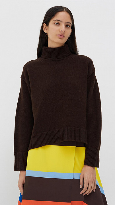 Chinti and Parker Sweater Chocolate