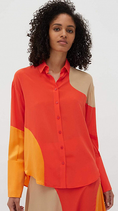 Chinti and Parker Flash Shirt Vermillion