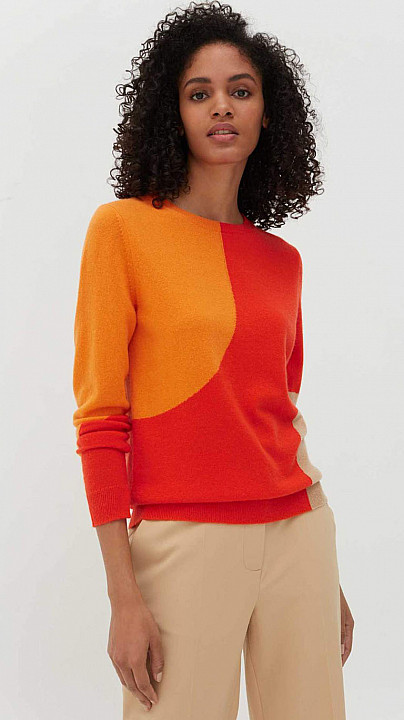 Chinti and Parker Flash Sweater Vermillion