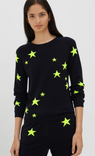 Chinti and Parker Star Sweater Navy