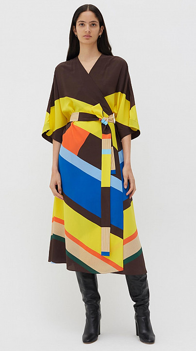 Chinti and Parker Modernity Dress Multi