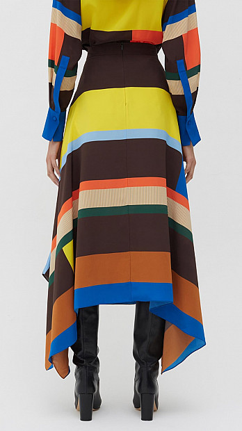 Chinti and Parker Modernity Skirt Multi