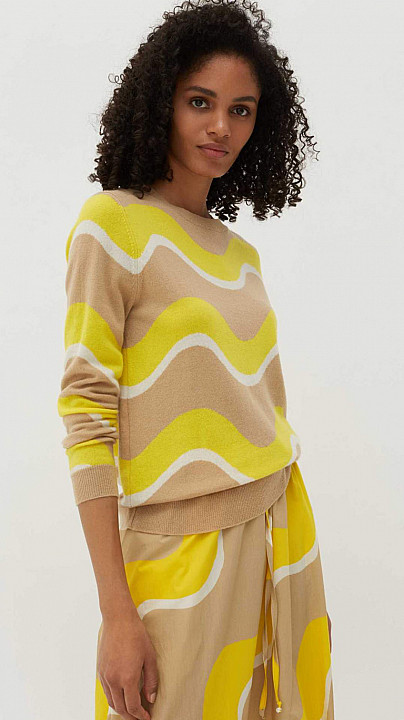 Chinti and Parker Wave Sweater