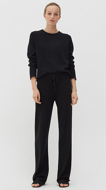 Chinti and Parker Wide Leg Trouser Black
