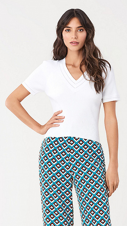 DVF Camille Top Ivory