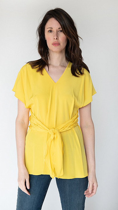 DVF Lizzie Top Goldenrod