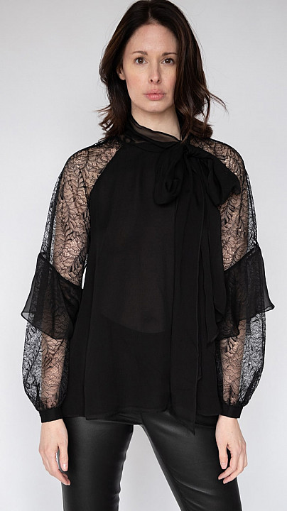 DVF Mariela Black Blouse