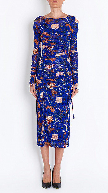 DVF Canton Dress in Electric Blue
