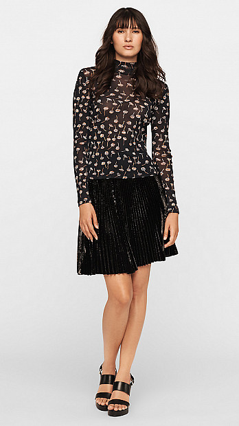 DVF Remy Mesh Top Thistle