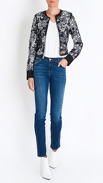 DVF Zip Front Lace Jacket