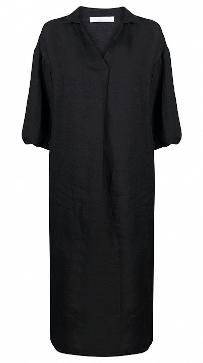 Fabiana Filippi Linen Dress Black