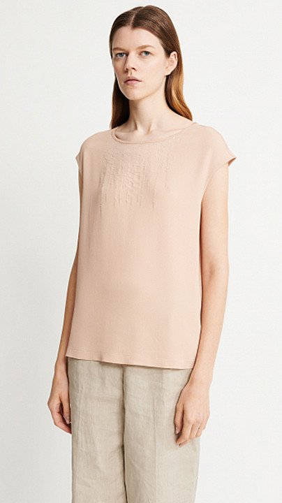 Fabiana Filippi Sequin Top Peach