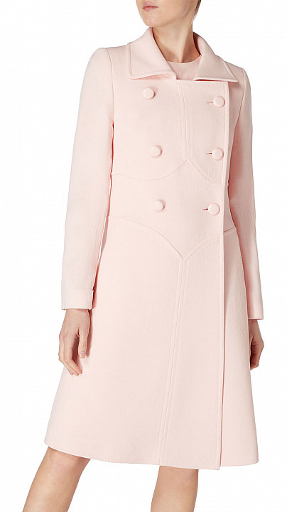 Goat Ascot Coat Blush