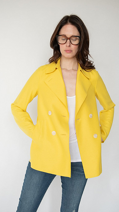 Harris Wharf Peacoat Pineapple