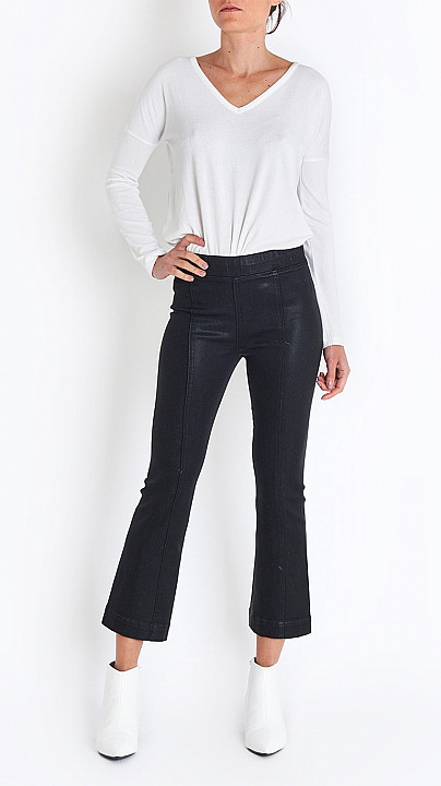 Helmut Lang Crop Flare Legging in Black