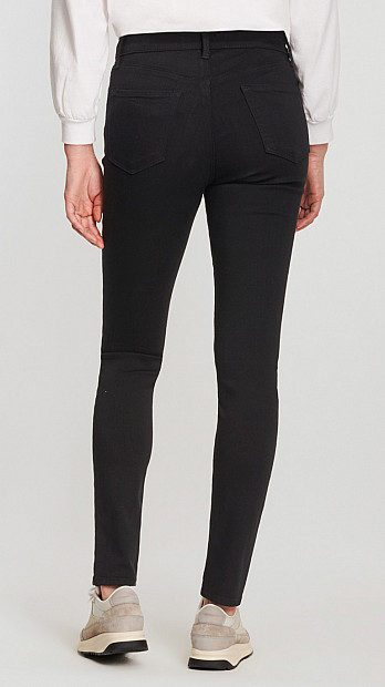 J Brand Maria High Rise Seriously Black